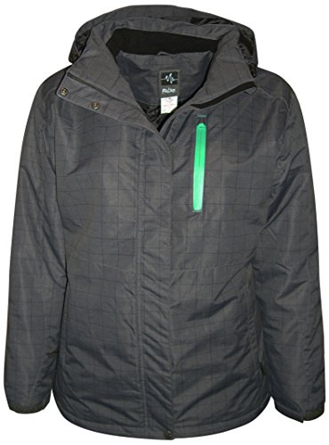 Pulse Plus Size Extended Women's Insulated Snow Jacket Mt. Shasta (1X (16/18), Black Pld)