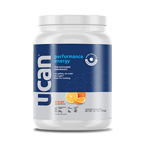 UCAN Performance Energy Powder (Orange, 24.7oz, 20 Servings) - No Sugar, Gluten Free, Vegan, Pre- and Post-Workout Drink, Keto Friendly