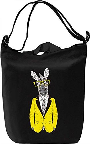 Hipster zebra Borsa Giornaliera Canvas Canvas Day Bag  100% Premium Cotton Canvas  DTG Printing 