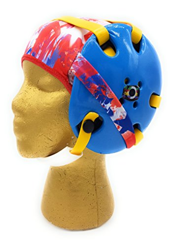 Wrestling Hair Cap - Under The Headgear 4 Strap Style - Stars and Stripes - New in 2017! (Red Trim)