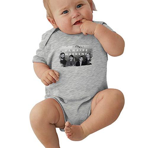 Wanyuei Babys Simple Jersey Bodysuit Vampire Weekend Climbing Suits Gray -