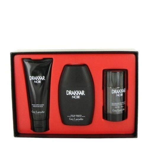 DRAKKAR NOIR by Guy Laroche Gift Set -- 3.4 oz / 100 ml Eau De Toilette Spray + 3.4 oz / 100 ml After Shave Balm...