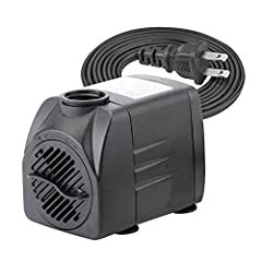The submersible pump is epoxy encapsulated and uses no oil, which means it is safe for your fish and aquatic plants. It's a versatile pump that can generate power waterfalls, filters, and fountain heads.  Three different size is available, 63...
