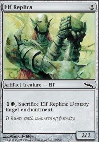 Magic: the Gathering - Elf Replica - Mirrodin - Foil (Foil Replica)