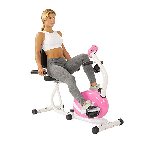 Sunny Health & Fitness P8400 Sunny Health & Fitness Magnetic Recumbent Bike Exe, Pink, 29 7 L x 12 2 W x 25 6 H