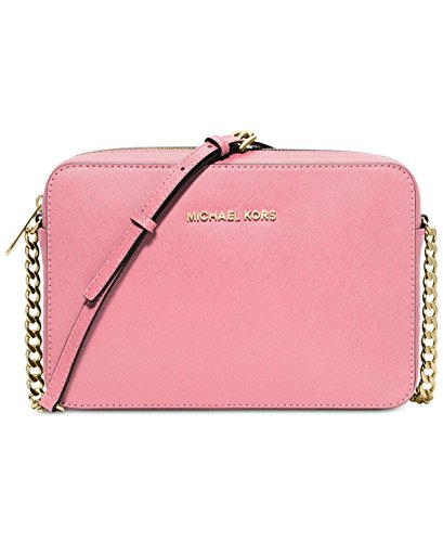 Michael Kors  Women's Jet Set Crossbody Leather Bag, Misty Rose, Large