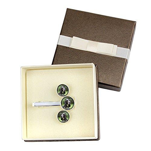 American Cocker spaniel, Cufflinks and Tiepin, Photo-Jewelry, Jewelry for Men, Box