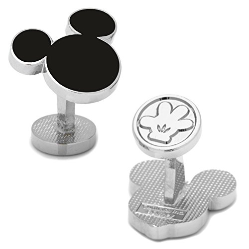 Disney Men's Mickey Mouse Silhouette Cufflinks (DN-MSILH-SL)