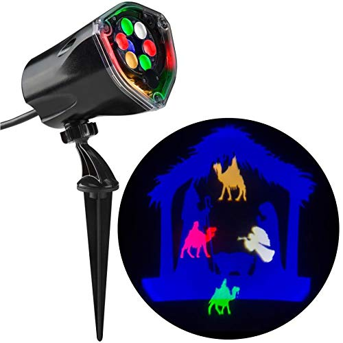 Gemmy Lightshow Projection Nativity Scene Christmas Indoor/Outdoor Stake Light Projector]()