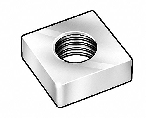 5//16-18 Machine Screw Square Nut Zinc Plated Finish PK100 Steel