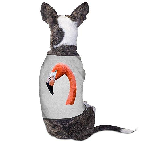 Logon 8 Pet Doggie T-shirt Flamingo Gray Size M