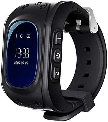 TOOGOO Q50 OLED Ni?os GPS Seguidor Sos Posicionamiento para Ni?os GPS Reloj de Bebé Compatible Negro