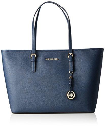 Michael Kors Jet Set Women's Medium 30T5GTVT2L Handbag Blue by MICHAEL Michael Kors
