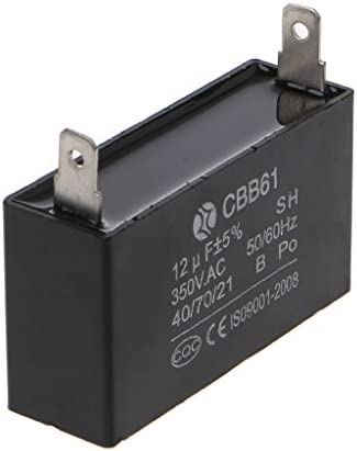 Black 12uF Generator Capacitor Generator CBB61 12uF 50//60Hz 350VAC Fan MotorXUI
