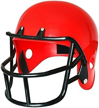 Casco Rugby Rojo Disfraz: Amazon.es: Juguetes y juegos