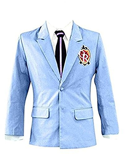 Expeke Halloween Japanese High School Uniform Costume Jackst Blazer Coat Tie Set (US Size XL, (Host Club Cosplay Costumes)