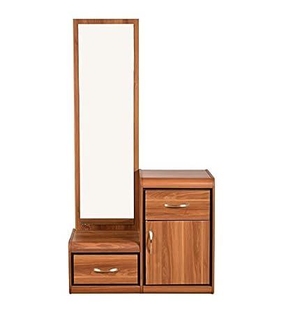 HomeTown Archer Dresser with Mirror (Walnut)
