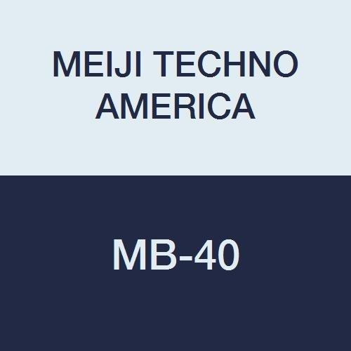 MEIJI TECHNO AMERICA MB-40 Binocular Zoom Stereo Microscope, 7-30X with 10X Adjustable Eyepiece, 76 mm LED Illuminated Light Track Stand ()