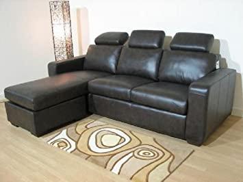 Napoli Brown Leather Corner Sofa Suite: Amazon.co.uk: Kitchen & Home
