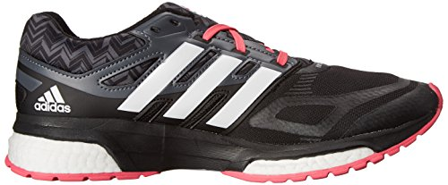 Adidas Performance Mujeres Response Boost Techfit Zapato Running Core Negro / Running Blanco / Rosa Neón