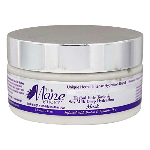 - THE MANE CHOICE Heavenly Halo Herbal Hair Tonic & Soy Milk Deep Hydration Mask - Hair Treatment for Dry, Thirsty Hair In Need of Intense Hydration (8 Ounces/237 Milliliters)