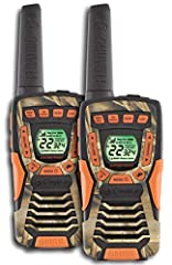 The new Cobra Floating Walkie Talkies are the perfect radio for your next hike, camping trip or other outdoor adventure. The CXT 1045R FLT CAMO two way radios come pre charged and ready to use out of the box and have a max performance range o...
