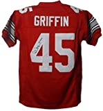 Archie Griffin Autographed Ohio State Buckeyes Size XL Red Jersey INSC JSA