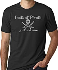 Instant Pirate Just Add Rum Funny Drinking T-Shirt