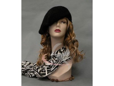 (MD-TinaF3) ROXY DISPLAY Realistic Female Mannequin Head Flesh Tone Pretty make-up. Ears pierced (Realistic Mannequins)