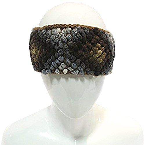 Adult Knit Headband - Women's Baby Alpaca Fleeced-lined Headband Handmade in Peru Multi-color Brown