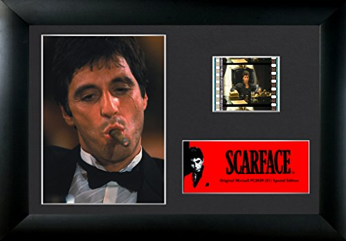 (Scarface (Tony Montana with Cigar) Authentic 35mm Film Cells Special Edition Display)