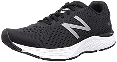New Balance Men's 680 V6 Running Shoes, Black, 7 US (X-Wide)