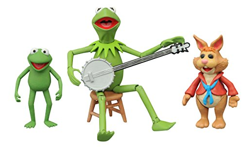 Diamond Select Toys - Muppets: Select Series 1 Kermit with Robin and Bean Bunny Set - Multi SEP158427