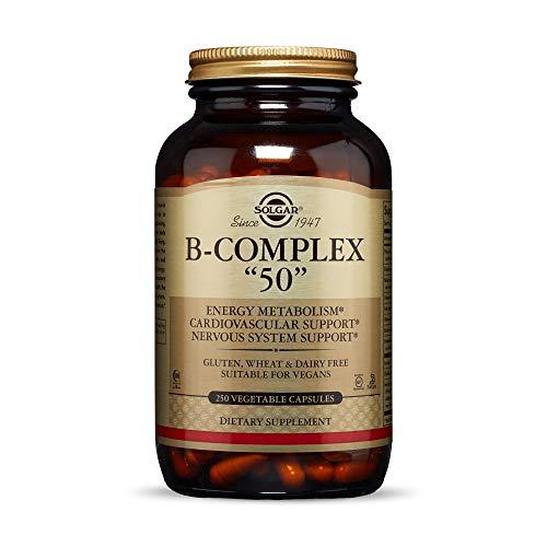 """Solgar - B-Complex """"50"""", 250 Vegetable Capsules"""