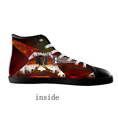 style band rock High Men's band Men Shoes Black3 rock Top for style Canvas Canvas Shoes 4wpzC5qxz