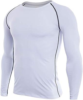Camiseta De Compresiòn Camiseta Térmica Interior Hombre Manga Larga para Running Fitness Entrenamiento: Amazon.es: Ropa y accesorios