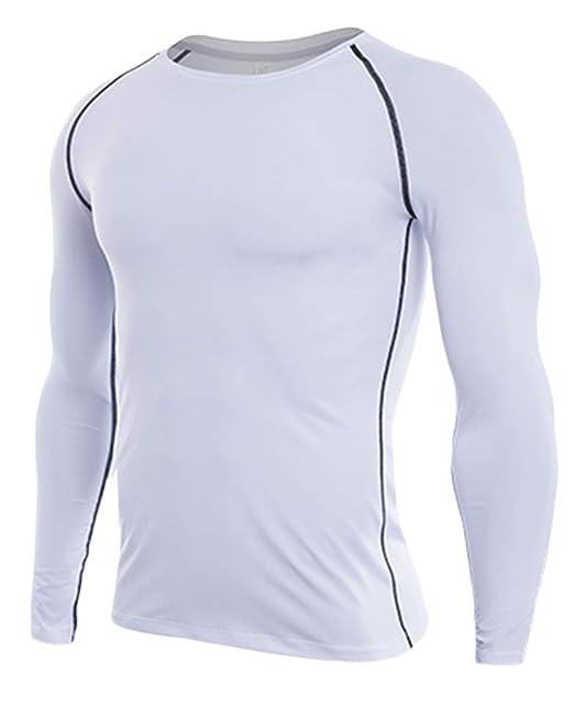 los Angeles descuento en venta último vendedor caliente Camiseta De Compresiòn Camiseta Térmica Interior Hombre Manga Larga para  Running Fitness Entrenamiento