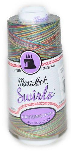 Maxi Lock Swirls (Maxi Lock Swirls Rainbow Swirl Serger Thread 53-M67)