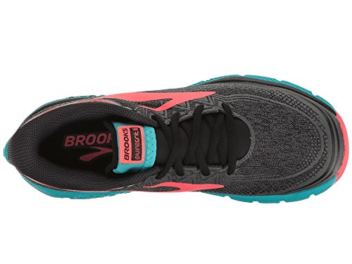 Womens Ebony PureGrit Diva Brooks Black Pink 6 UHwCq