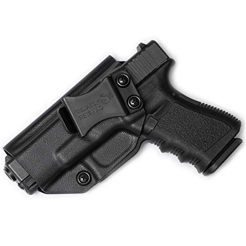 Glock 17 19 22 23 26 27 31 32 33 45 (Gen 1-5) IWB Holster - Combat Veteran Owned Company - Inside The Waistband Concealed Carry - Adjustable Retention and Cant (Left-Hand Draw (IWB)) (Best Owb Holster For Glock 19 Concealed Carry)