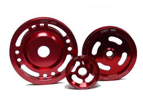 OBX Red Overdrive Power Pulley Kit 95-99 Mitsubishi Eclipse GST/GSX and 95-98 Eagle Talon TSi/AWD 2.0L 4G63T