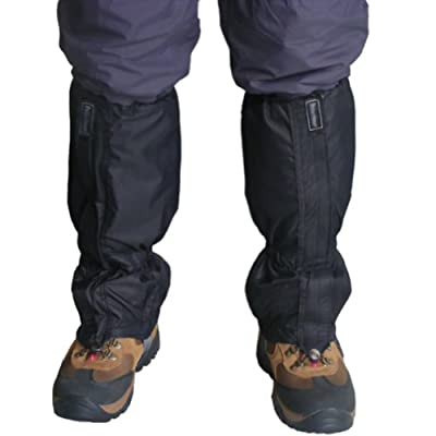 Wrisky 2pcs Waterproof Outdoor Hiking Walking Climbing Hunting Snow Legging Gaiters