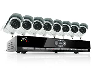 SVAT CV301-8CH-008 8-Channel H.264 Smart DVR Complete Surveillance System (Includes 8 Indoor/Outdoor High-Resolution CCD Night-Vision Cameras)