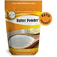 Judee's Butter Powder 11.25 oz (1.5 lb also) 100% Real Butter, Low Carb Keto Friendly, NonGMO, rBST Hormone Free, Gluten and Nut Free Facility, USA Made, Add Fat to Coffee, Baking Ready