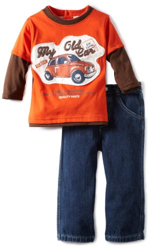 Little Rebels Little Boys' 2 Piece My Old Car Pant Set