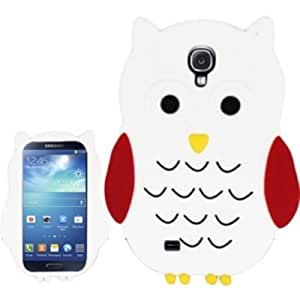 OWL 3D Silicone Skin Case Cover For Samsung Galaxy S4 i9500 - White Owl