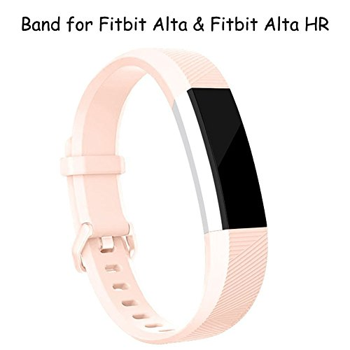 For Fitbit Alta HR Bands, Afoskce Alta/Alta HR band Newest Adjustable Sport Accessory Replacement Wristband with Secure Metal Buckle for Fitbit Alta HR 2017/Fitbit Alta 2016 (Blush Pink, - Off 90 Black Pink Friday