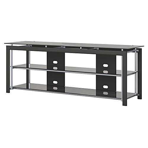 - Bush Furniture Midnight Mist 65W TV Stand for Flat Screens in Black