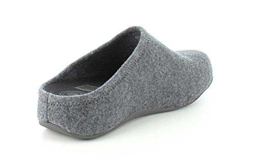 Clog Light Felt On Slip Shuv Grey Shoes Womens FitFlop HXzOFF