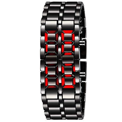 Madeii Ecommerce MII Digital Black Metal Bracelet Red LED Men's Watch (B07YX24JSG) Amazon Price History, Amazon Price Tracker